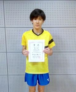男子シングルA優勝松野